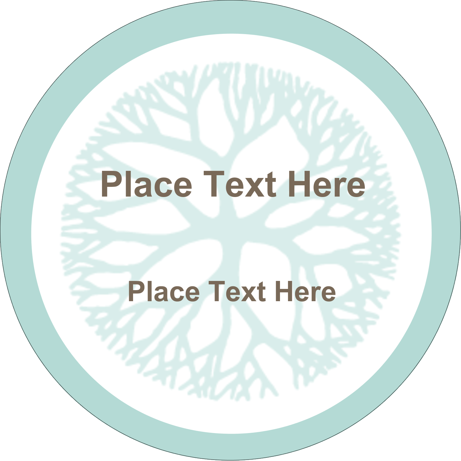 "2½"" Round Label - Creative Floral"
