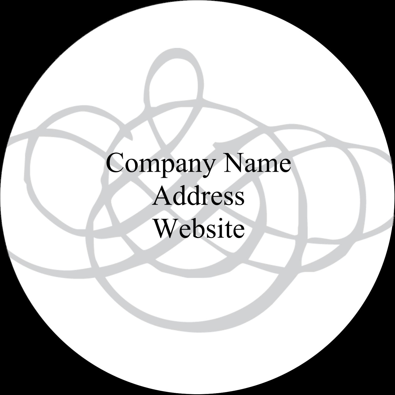 "2½"" Round Label - Wedding Monogram"
