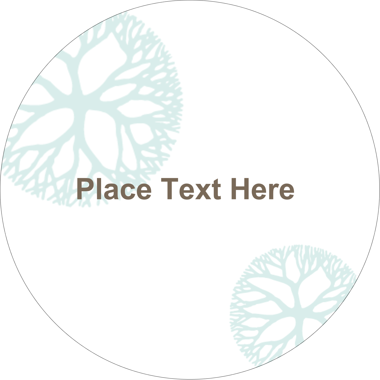 "2½"" Round Label - Creative Floral"