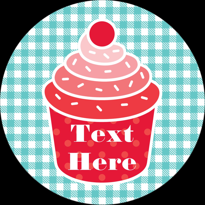 """2½"""" Round Label - Cupcake Kit"""