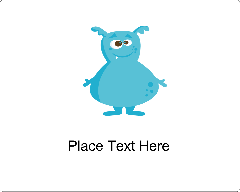 "3"" x 3¾"" Rectangular Label - Cute Monsters"