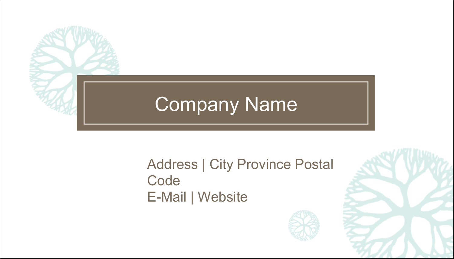 "2"" x 3½"" Business Card - Creative Floral"