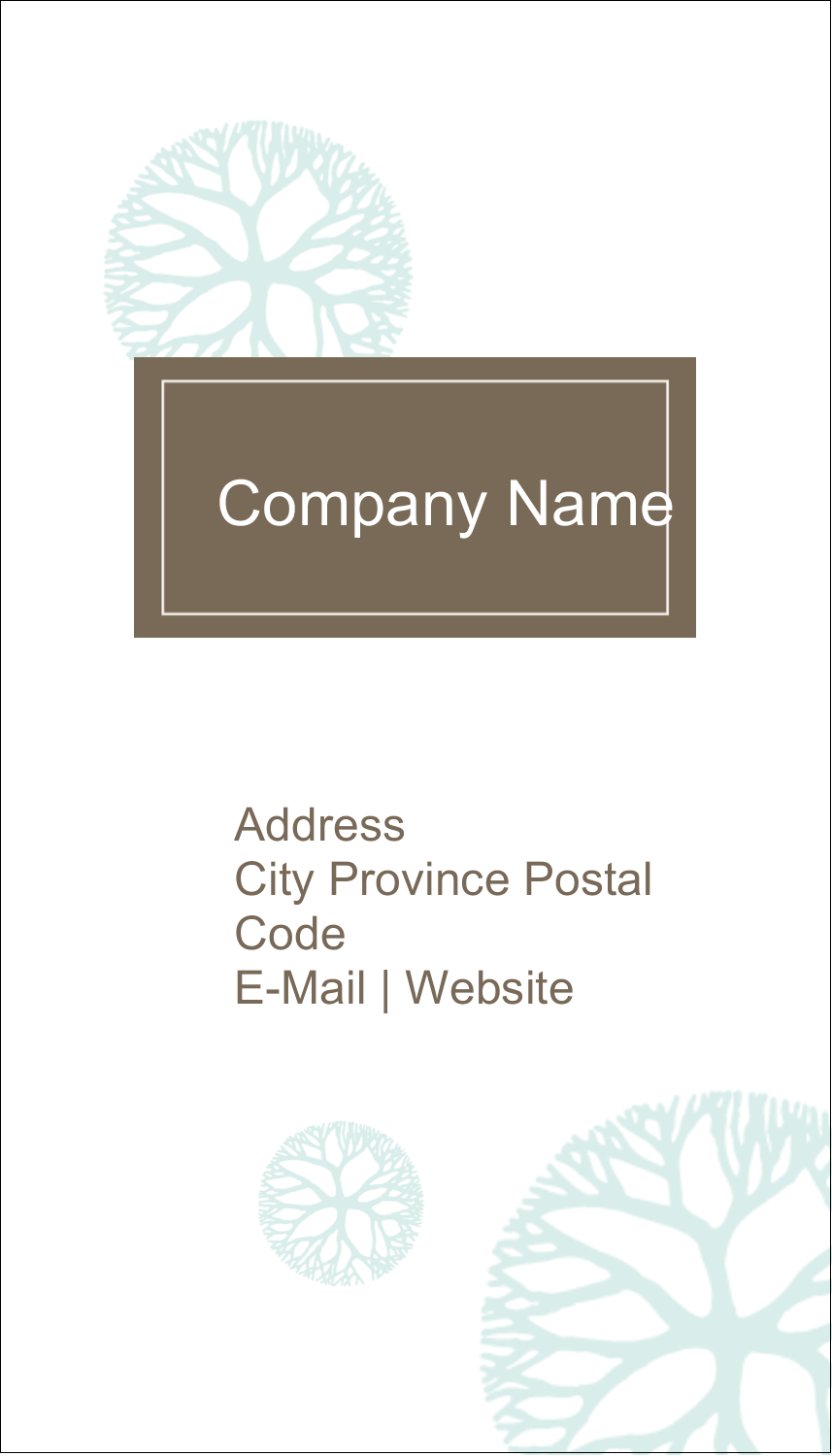 "3½"" x 2"" Business Card - Creative Floral"