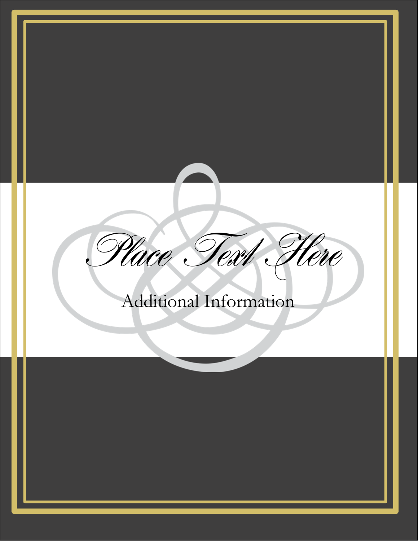 "5½"" x 4¼"" Postcard - Wedding Monogram"
