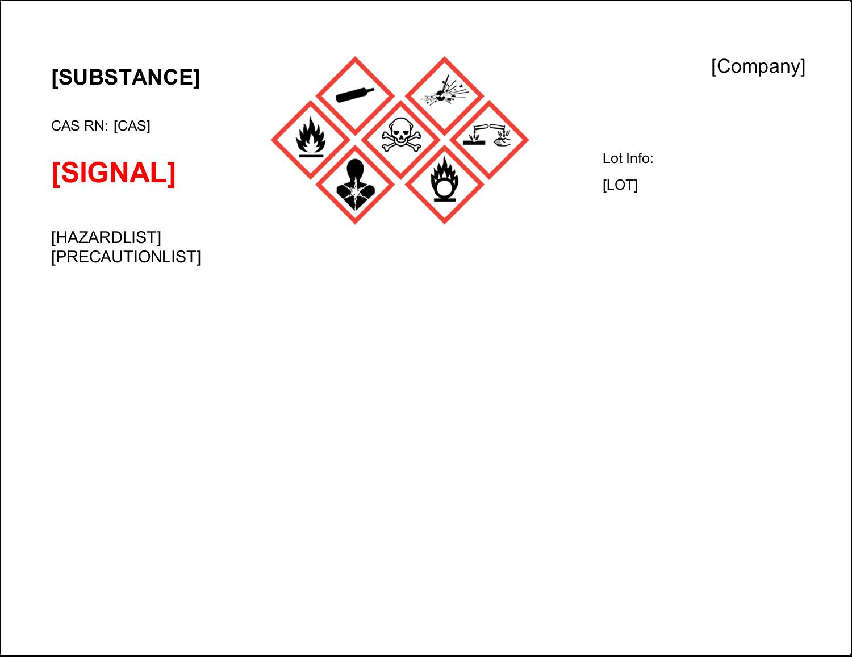 "11"" x 8½"" Industrial Label - GHS Wizard"