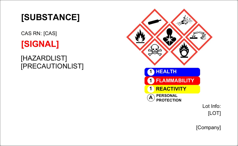 "4¾"" x 7¾"" Industrial Label - GHS Wizard"