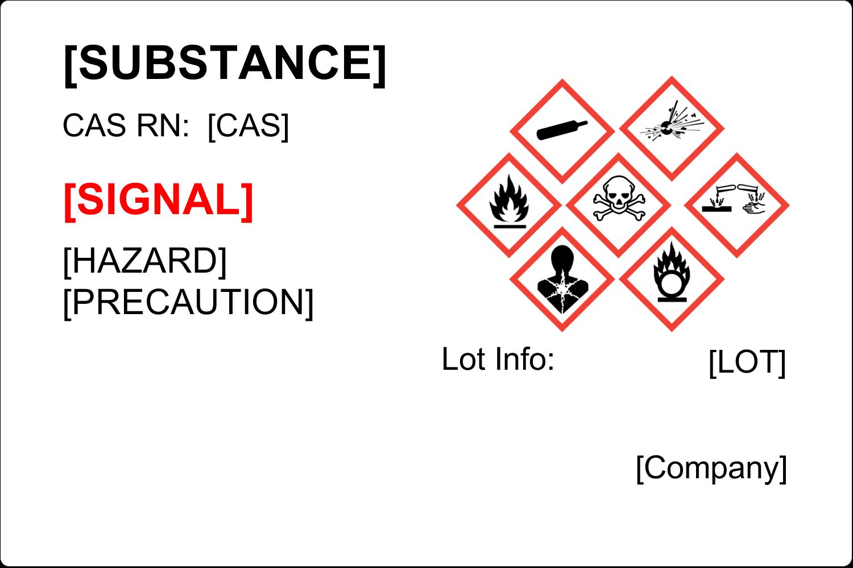 x  Industrial Label - GHS Wizard