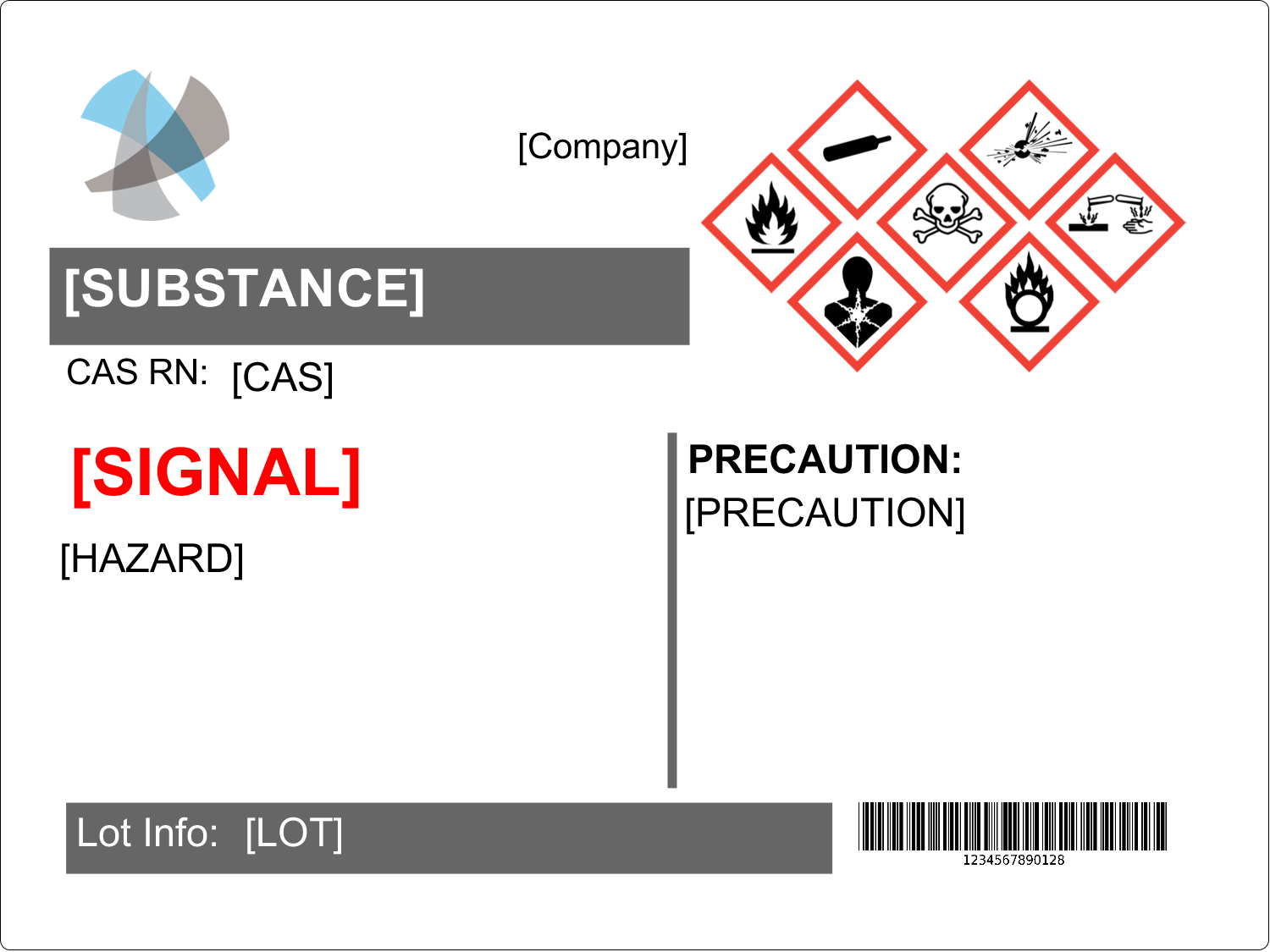 x  Industrial Label - GHS Wizard