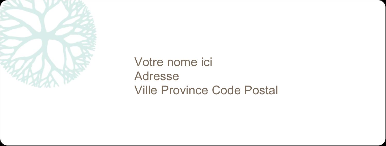 """1"""" x 4"""" Étiquettes d'adresse - Fleur créative"""