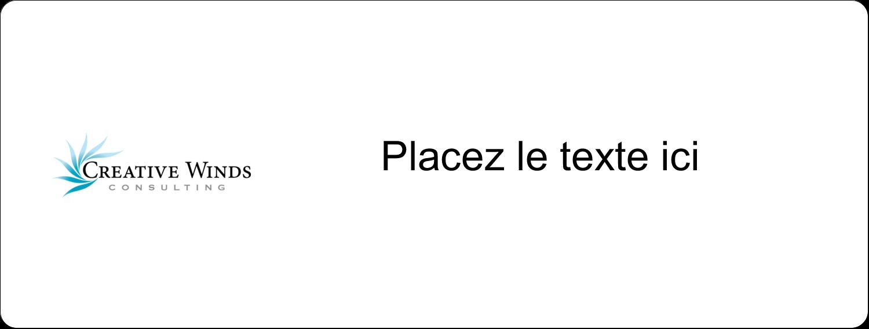 """2⅝"""" x 1"""" Étiquettes Voyantes - Flamme créative"""