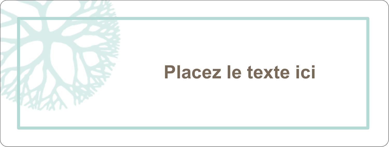 """2⅝"""" x 1"""" Étiquettes Voyantes - Fleur créative"""