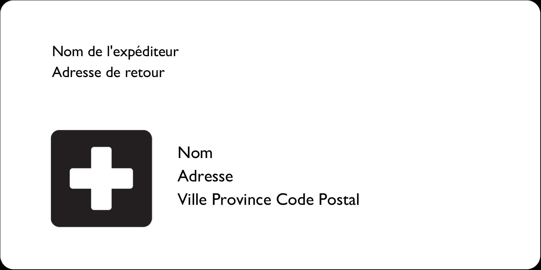 """2"""" x 4"""" Étiquettes d'expédition - Croix médicale"""