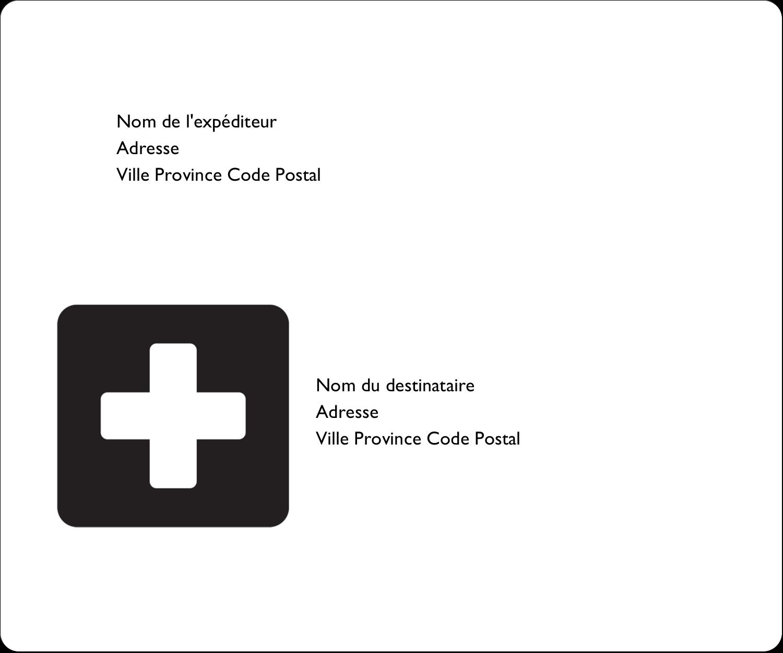 """3⅓"""" x 4"""" Étiquettes d'expédition - Croix médicale"""
