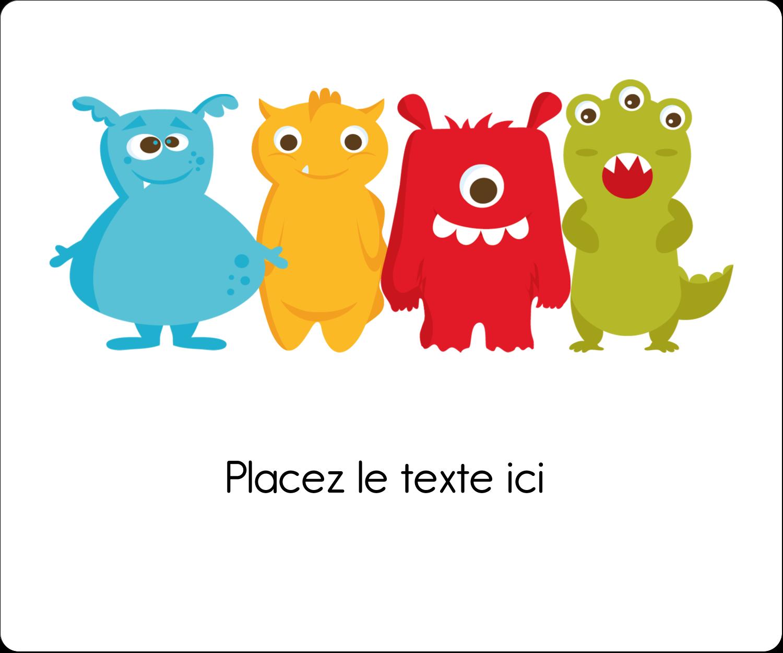 """½"""" x 1¾"""" Étiquettes D'Adresse - Monstres mignons"""