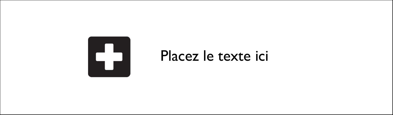 """2½"""" x 8½"""" Affichette - Croix médicale"""