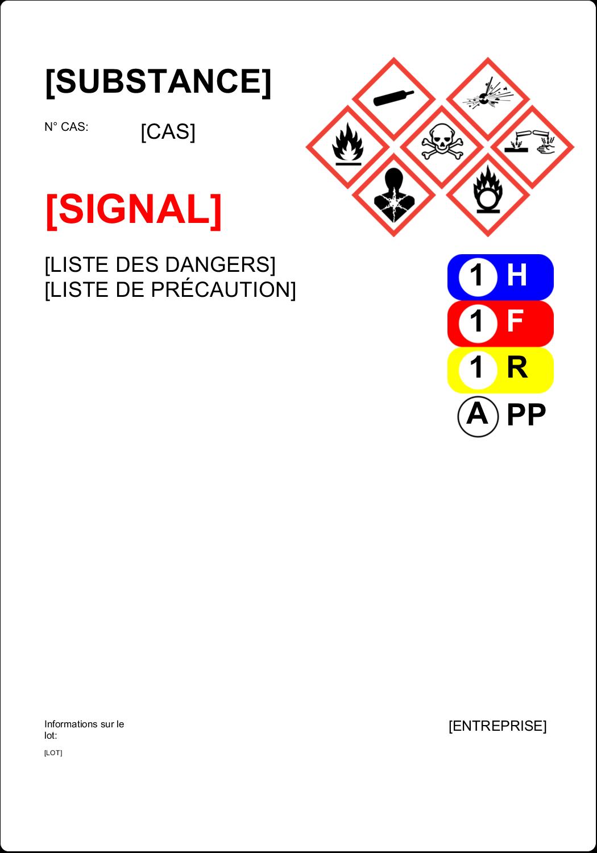"""4"""" x 4"""" Étiquette Industrielles - Assistant SGH"""