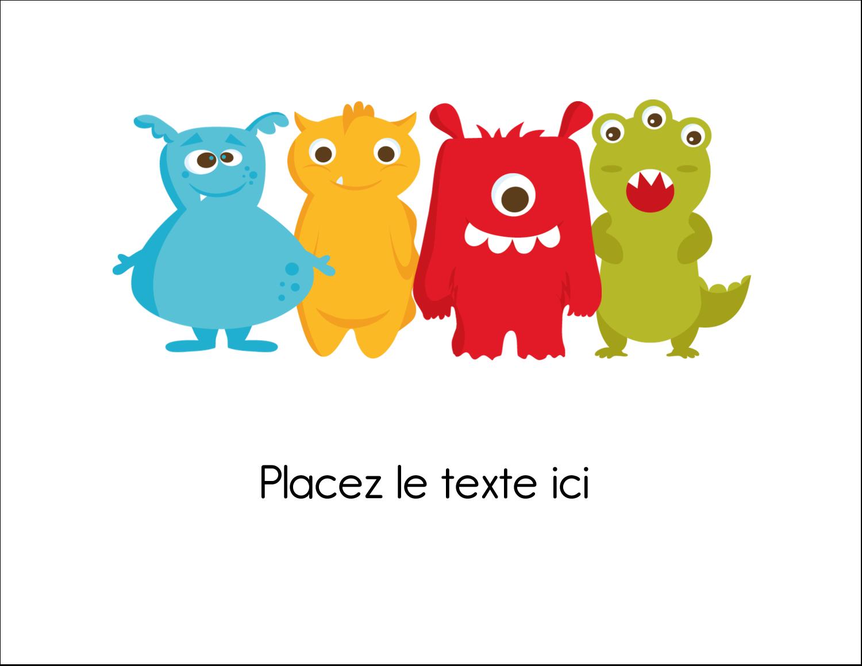 """8½"""" x 11"""" Cartes Et Articles D'Artisanat Imprimables - Monstres mignons"""