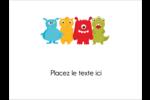 Monstres mignons Badges - gabarit prédéfini. <br/>Utilisez notre logiciel Avery Design & Print Online pour personnaliser facilement la conception.