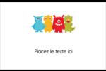 Monstres mignons Étiquettes badges autocollants - gabarit prédéfini. <br/>Utilisez notre logiciel Avery Design & Print Online pour personnaliser facilement la conception.