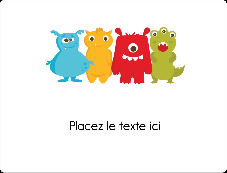 """8⅛"""" x 5"""" Étiquettes d'expéditions - Monstres mignons"""