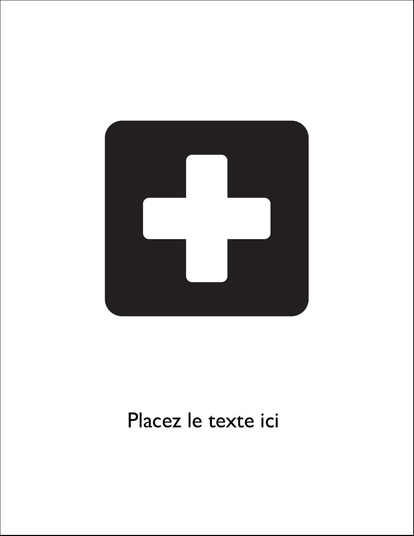 "8½"" x 11"" Binder Insert Reliures - Croix médicale"