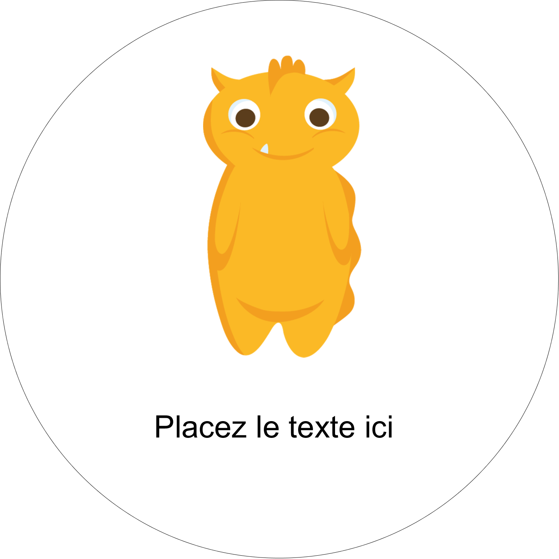 """2¼"""" x ¾"""" Étiquettes Voyantes - Monstres mignons"""