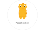 Monstres mignons Étiquettes Voyantes - gabarit prédéfini. <br/>Utilisez notre logiciel Avery Design & Print Online pour personnaliser facilement la conception.