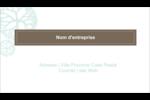 Fleur créative Cartes Pour Le Bureau - gabarit prédéfini. <br/>Utilisez notre logiciel Avery Design & Print Online pour personnaliser facilement la conception.