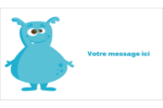 Monstres mignons Cartes Pour Le Bureau - gabarit prédéfini. <br/>Utilisez notre logiciel Avery Design & Print Online pour personnaliser facilement la conception.