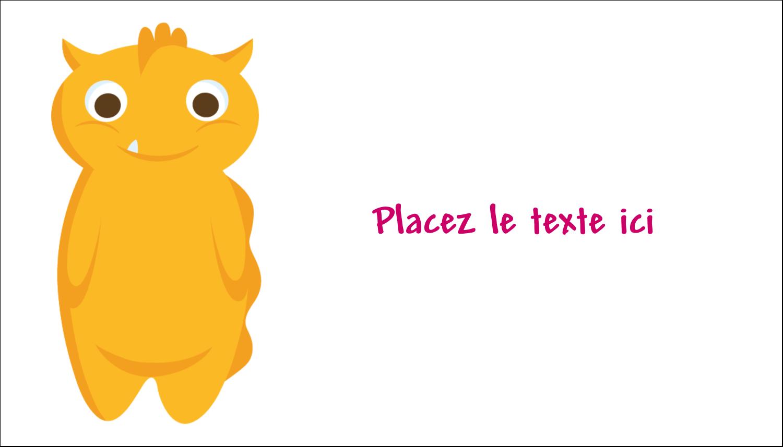 """2"""" x 3½"""" Carte d'affaire - Monstres mignons"""