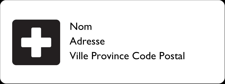 """⅔"""" x 1¾"""" Étiquettes D'Adresse - Croix médicale"""
