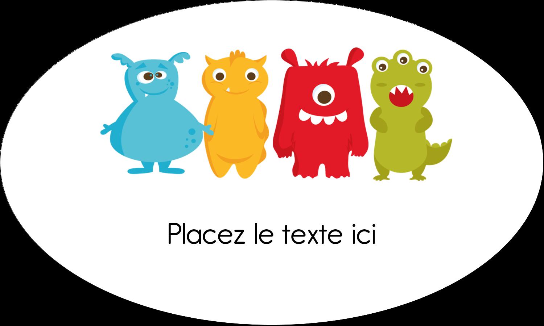 """1½"""" x 1½"""" Étiquettes carrées - Monstres mignons"""