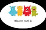 Monstres mignons Étiquettes carrées - gabarit prédéfini. <br/>Utilisez notre logiciel Avery Design & Print Online pour personnaliser facilement la conception.