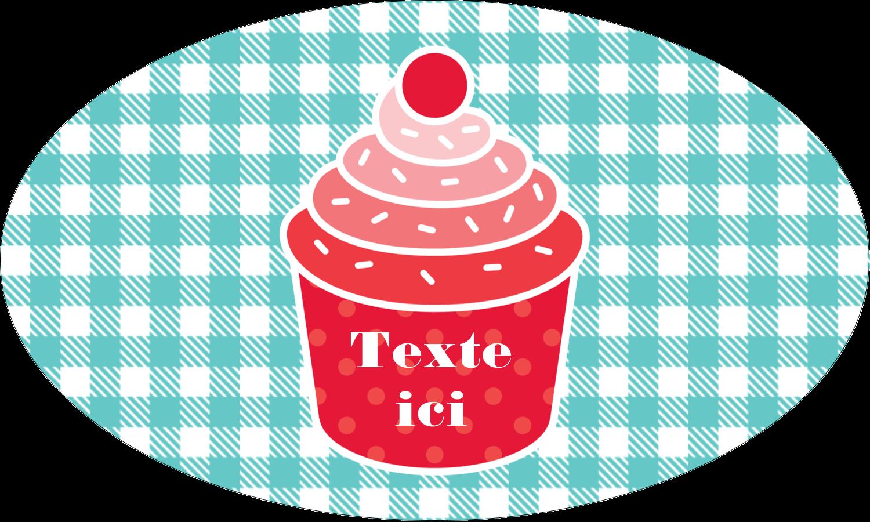 """1½"""" x 2½"""" Étiquettes ovales - Ensemble pour petits gâteaux"""
