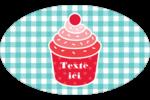 Ensemble pour petits gâteaux Étiquettes ovales - gabarit prédéfini. <br/>Utilisez notre logiciel Avery Design & Print Online pour personnaliser facilement la conception.