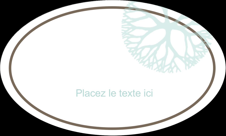 """1½"""" x 1½"""" Étiquettes carrées - Fleur créative"""