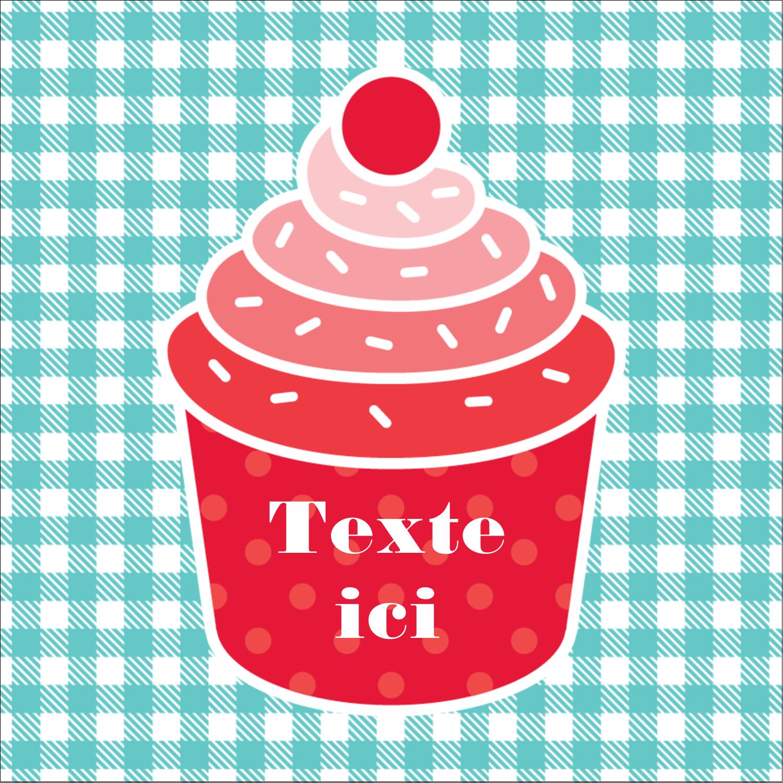 """2"""" x 2"""" Étiquettes carrées - Ensemble pour petits gâteaux"""