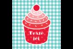 Ensemble pour petits gâteaux Étiquettes carrées - gabarit prédéfini. <br/>Utilisez notre logiciel Avery Design & Print Online pour personnaliser facilement la conception.