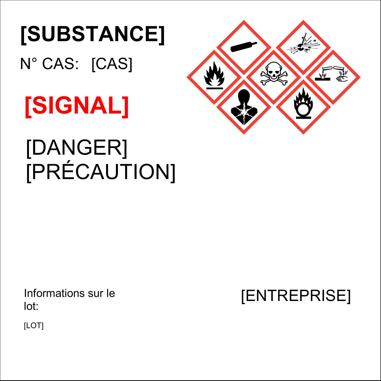 """2"""" x 2"""" Étiquette Industrielles - Assistant SGH"""