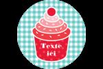 Ensemble pour petits gâteaux Étiquettes rondes - gabarit prédéfini. <br/>Utilisez notre logiciel Avery Design & Print Online pour personnaliser facilement la conception.