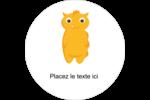 Monstres mignons Étiquettes rondes - gabarit prédéfini. <br/>Utilisez notre logiciel Avery Design & Print Online pour personnaliser facilement la conception.
