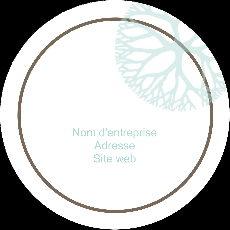 """2½"""" Diameter Étiquettes rondes - Fleur créative"""