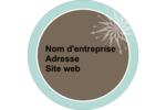 Éclat créatif Étiquettes arrondies - gabarit prédéfini. <br/>Utilisez notre logiciel Avery Design & Print Online pour personnaliser facilement la conception.