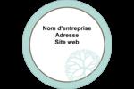 Fleur créative Étiquettes arrondies - gabarit prédéfini. <br/>Utilisez notre logiciel Avery Design & Print Online pour personnaliser facilement la conception.