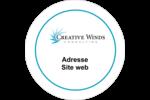 Flamme créative Étiquettes arrondies - gabarit prédéfini. <br/>Utilisez notre logiciel Avery Design & Print Online pour personnaliser facilement la conception.