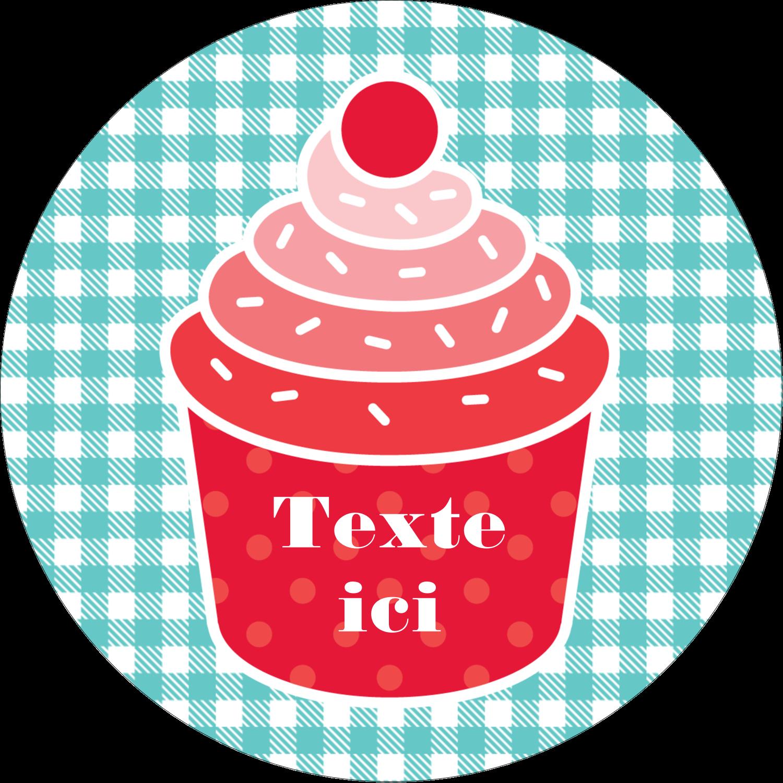 """2½"""" Diameter Étiquettes rondes - Ensemble pour petits gâteaux"""