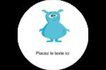 Monstres mignons Étiquettes de classement - gabarit prédéfini. <br/>Utilisez notre logiciel Avery Design & Print Online pour personnaliser facilement la conception.
