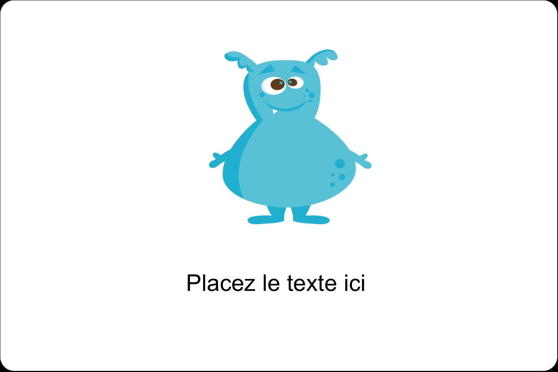 """3"""" x 3¾"""" Étiquettes rectangulaires - Monstres mignons"""