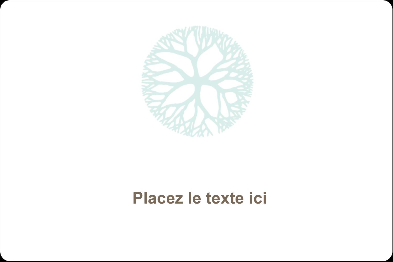 """3"""" x 3¾"""" Étiquettes rectangulaires - Fleur créative"""