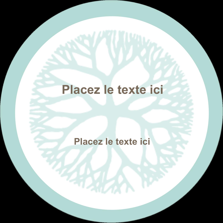 """4¾"""" x 3½"""" Étiquettes arrondies - Fleur créative"""